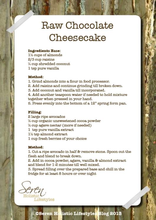 Seren Raw Chocolate recipes